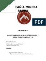 Requerimiento de Aire Comprimido y Agua 11111