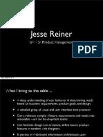 Jesse Reiner Portfolio