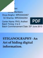 STEGANOGRAPHY- An Art of Hiding Digital Information