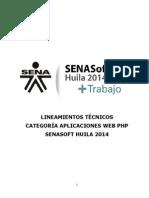 6 Lineamientos Tecnicos Categoria Aplicaciones Web Php