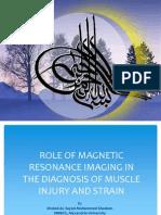 MRI Muscle Injury Presentation
