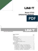 UT233 Eng Manual