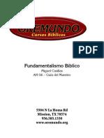 Fundamentalismo Biblico - Maestro