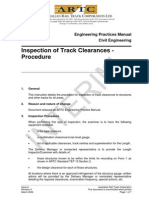 ARTC - RAP5135 - Inspection of Track Clearances - Procedure