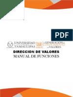 Manual de Funciones Dirección de Valores