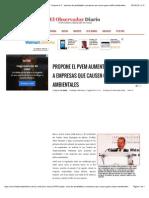 27-08-14  Propone el PVEM aumento de penalidades a empresas que causen graves daños ambientales.