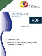 Protocolo de Londres Presentacion Subsecretario