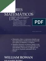 AUTORES MATEMÁTICOS