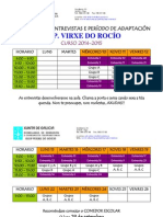 Calendario de Entrevistas e Período de Adaptación 2014