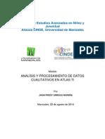 Módulo Anáslis de Datos Cualitativos en Atlas Ti SEP 12