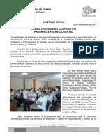 3 Sept 2014 Recibe Sso a Pasantes en Servicio Social