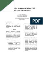 Principales Aspectos de La Ley 1715
