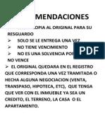 Requisitos de Liberacion