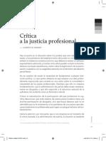 BINDER - Critica a La Justicia Profesional (Infojus)