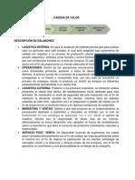 Idea de Negocio - Cadena de Valor y Estructura Financiera