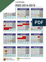 Calendario Escolar Del Curso 2014 - 2015 Del CEIP José Ortega Valderrama de Pradejón