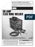 HARBOR FREIGHT 90 AMP FLUX WIRE WELDER