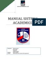 Manual Sistema Academico