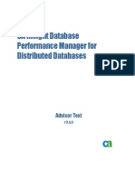 CA Insight Database Performance Manager for Distributed Databases Advisor Text