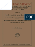 Dr. v. Geilen (Auth.) Mathematik Und Baukunst Als Grundlagen Abendländischer Kultur_ Kants 1921