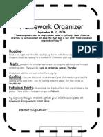 Organizer Sept. 8-12