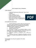 Formatos de Reunion de dos Consejo de Curso y Consejo de Profesores
