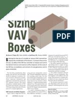 ASHRAE SizingVAV Boxes