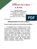 Enriquecendo-se Com a Bíblia - A. w. Pink