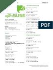 OpenSUSE Cheat Sheet
