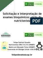 Exames Laboratoriais Pelo Nutricionista Felipe Fedrizzi