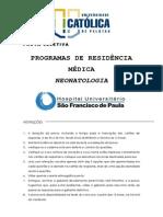 Prova Residencia Medica Geral 2011 Neonatologia