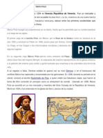 Cristobal Colon y Marco Polo Biografia