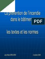 Textes Et Normes Protection Incendie