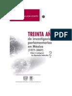 Cecilia Mora. 30 Años de Investigaciones Parlamentarias en Mexico