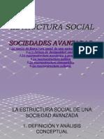 Estructura Social. Sociedades Avanzadas