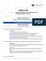 Programa Urbsocial - 20 y21 de Octubre