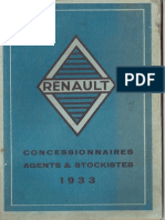 Liste Agents Renault 1933