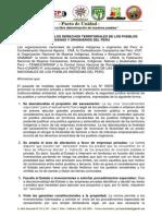 Pronunciamiento Del Pacto de Unidad Sobre Ley 30230 Paquetazo