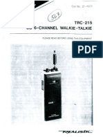 Realistic TRC 215 cb handheld