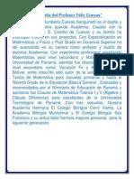 Biografía Del Profesor Félix Cuevas