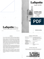 Lafayette Ha 73b cb walkie talkie User manual Schematic