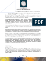 24-03-2011 Guillermo Padrés firmó la carta de adhesión al sistema INFOMEX para que toda persona pueda tener acceso a la información de manera mas sencilla y expedita. B031180