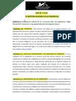 Notificaciones Electronicas Ley 7372 y Reglamentacion STJ