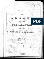 An Answer to the Declaration of the American Congress by John Lind