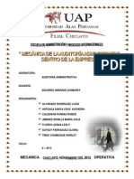 Mecanica Operativa de La Auditoria Administrativa Hoy