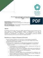 Educacion Matematica Plan de Estudios