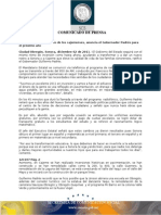 """02-12-2011 Gobernador Guillermo Padrés Elías, se comunicó vía telefónica al programa """"Dígalo sin miedo"""" donde ratificó seguirá con el mismo ritmo de inversión, ayudando a transformar Sonora. B121107"""
