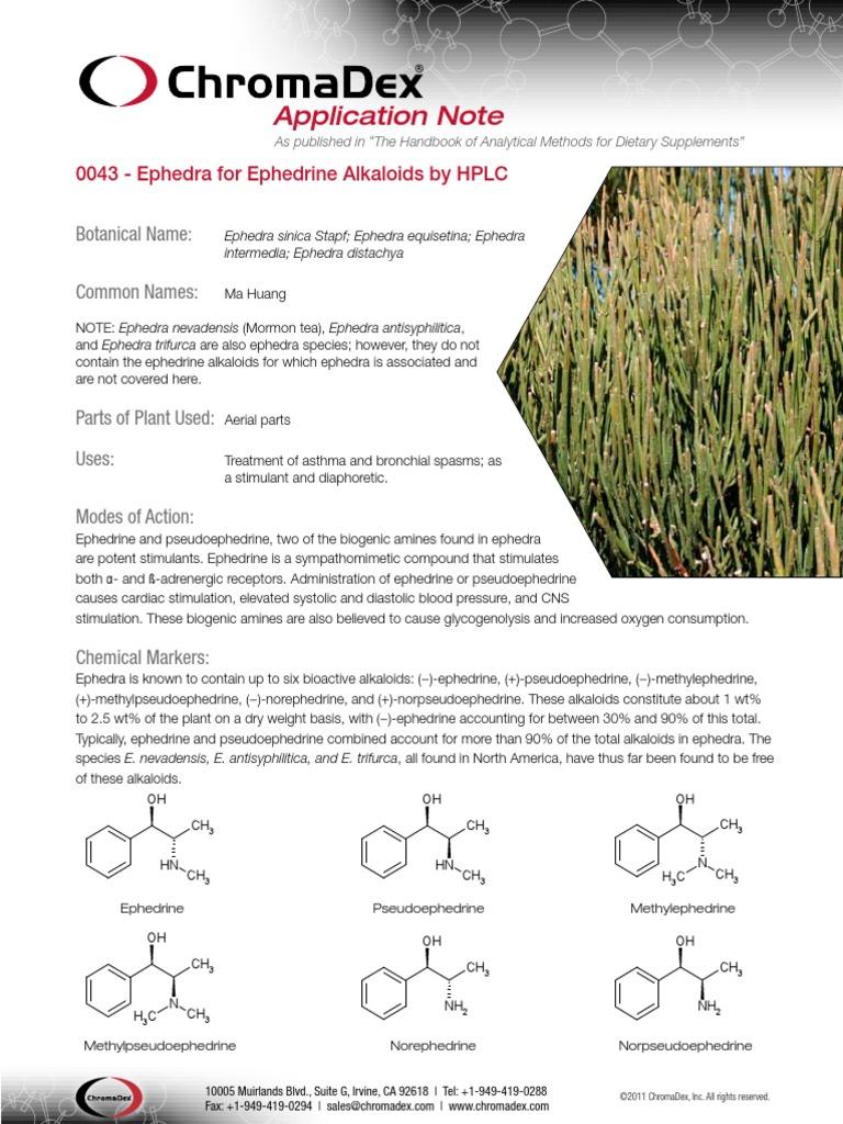 0043_Ephedra_ApplicationNote_pw pdf | High Performance Liquid