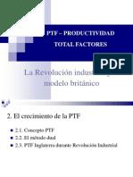 Ptf - Productividad Total Factores