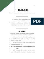 BILL H.R. 645 House of Representatives
